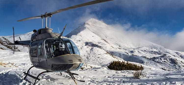 Heli-Skiing Helicopter