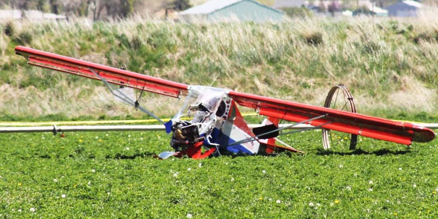 A 79 year old man died after crashing his experimental aircraft into an alfalfa field near Klamath Falls Oregon recently.
