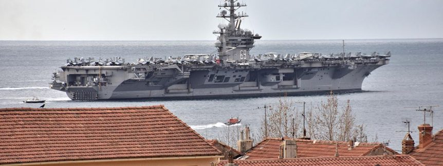 USS Dwight D Eisenhower used for Smithsonian Video