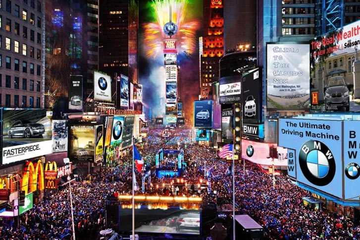 NYC State of Mind: Private Jet Charters to Times Square's New Year's Eve!