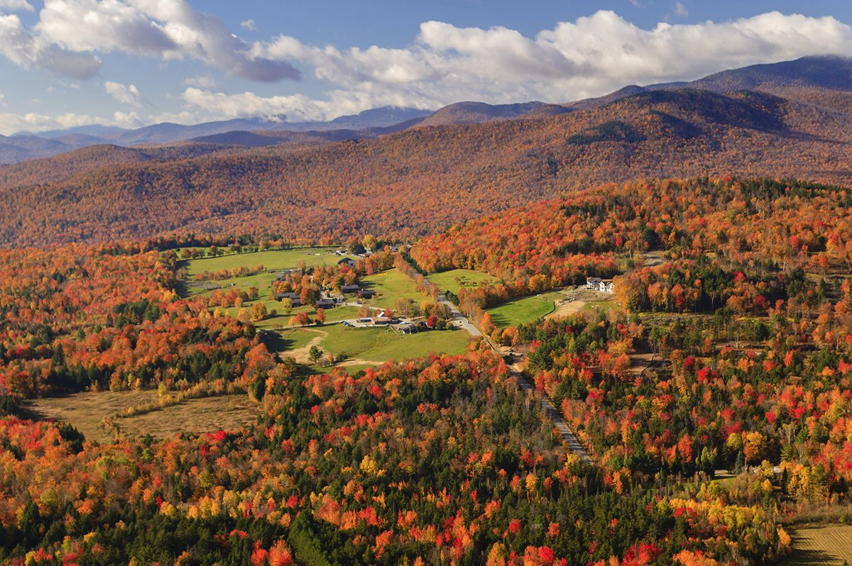 Spectacular Stowe, Vermont Fall Foliage Helicopter Tour
